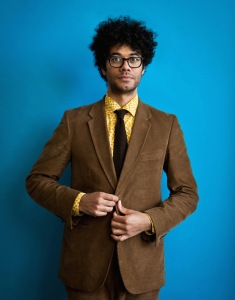 Richard Ayoade, Director, writer and actor photographed for The Sunday Times Culture by Michael Leckie